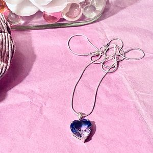 Purple Mystic Topaz Pendant/925 Silver Necklace